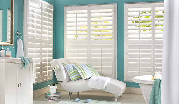 Perfect Fit White full height Shutters in Bathroom