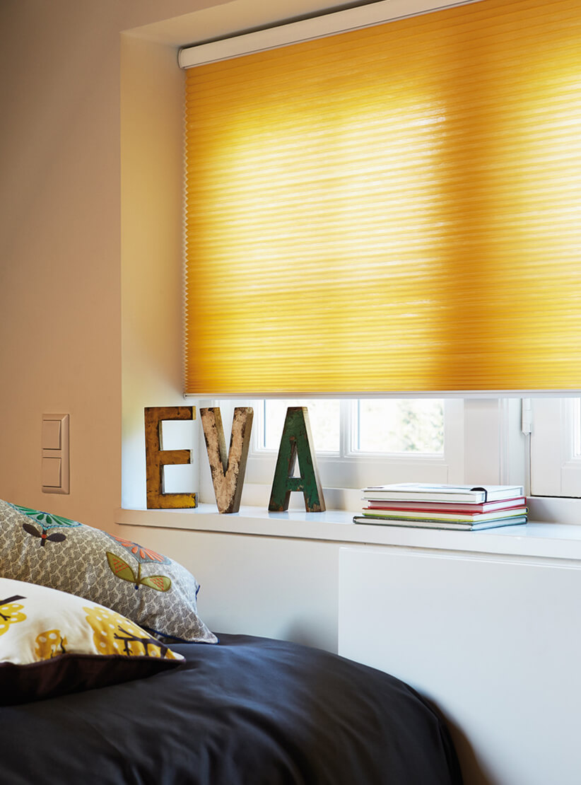 Yellow Honeycomb Blinds