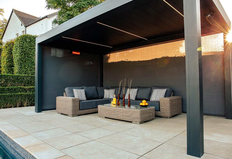 outdoor living pod garden shading